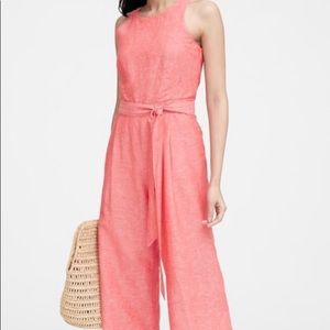 Beautiful Coral Cropped Jumpsuit